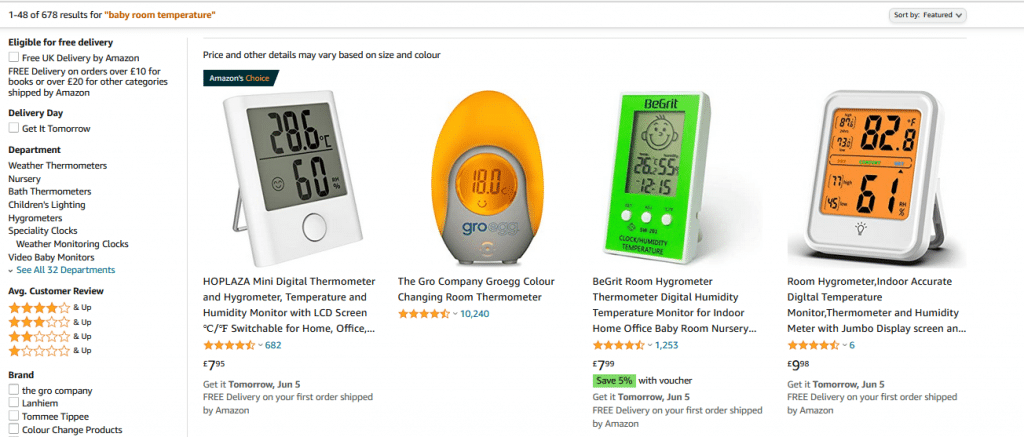 Best Baby Room Temperature